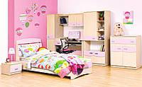 """Детская спальня """"Саванна"""" в комплекте шкаф книжный, пенал, кровать, каркас, стол, тумба, полка, тв тумба"""