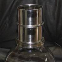 Фильтр на стеклянную банку, нержавеющий D-70 мм