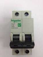 Автоматический выключатель Easy9  2Р, 25А, 4.5кА, тип С, EZ9 Schneider Electric