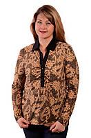 Блуза рубашка женская батник трикотажный 48,50,52.