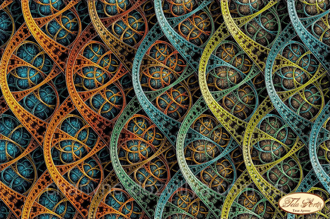 """Схема для вышивки бисером на атласе фрактал """"Бесконечность"""""""