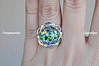 Серебряное кольцо с золотом и опалом Анабель (р.17-19)