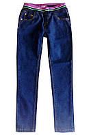 Джинсы с поясом на резинке; 98, 104, 122 размер, фото 1