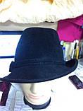 Шляпка из фетра под мужской стиль, фото 3