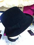 Шляпка из фетра под мужской стиль, фото 4