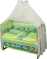 Набор в детскую кроватку 7 предметов 960У Ежик салатовый РУНО