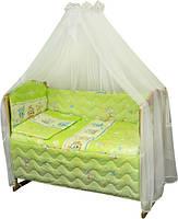 Набор в детскую кроватку 7 предметов 960У Мышка с сыром салатовый РУНО