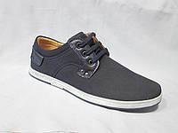 Туфли  подростковые для мальчиков 36-41 р., спортивные на шнурках, детали из кожзама, синие