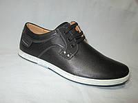 Туфли  подростковые для мальчиков 36-41 р., спортивные на шнурках, детали из замши,черные