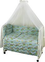 Набор в детскую кроватку 7 предметов 960У Сладкий сон голубой РУНО