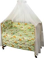 Набор в детскую кроватку 7 предметов 960У Сладкий сон салатовый РУНО