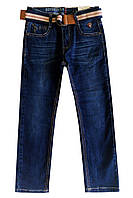 Джинси з ременем для підлітка; 116, 122 розмір, фото 1