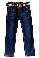 Джинсы с ремнем для подростка; 116, 122, 128, 134, 140 размер