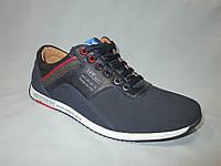 Туфли  подростковые для мальчиков 36-41 р., кроссовки на шнурках, разноцветные люверсы, синий замш