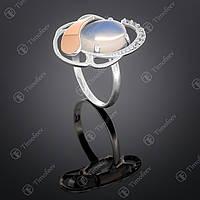 Серебряное кольцо с лунным камнем. Артикул П-314
