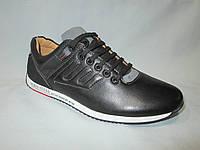 Кроссовки повседневные подростковые для мальчиков 36-41 р., на шнурках, отстроченный декор, черные