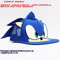 Кепка, бейсболка, snapback, Соник Бум, Sonic Boom, рэперская кепка