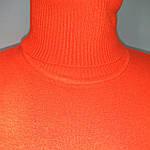 Кашеміровий джемпер ніжно рожевий з коротким рукавом і високим горлом в'язана, фото 5