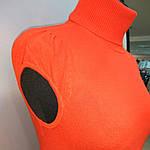 Кашеміровий джемпер ніжно рожевий з коротким рукавом і високим горлом в'язана, фото 4