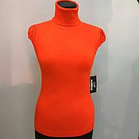 Кашемировая блуза джемпер с коротким рукавом и высоким горлом