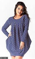 Женское платье-туника большой размер