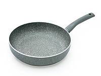 """Глубокая сковорода с антипригарным каменным покрытием 28х7см и индук. дном Fissman """"Vulcano"""" (AL-4700.28)"""