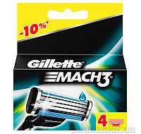 Сменные картриджи для бритья Gillette Mach 3 4 шт