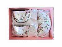 Чайный набор Магнолия 4 приборы (Фарфоровая посуда)