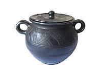 Кастрюля глиняная 2 л Глянец Гаварецкая керамика (Гаварецкая глиняная посуда)
