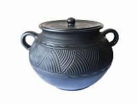 Кастрюля глиняная 3 л Глянец Гаварецкая керамика (Гаварецкая глиняная посуда)
