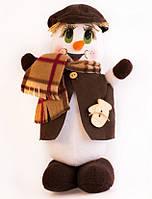 Новогодняя игрушка снеговик 3