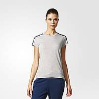 Футболка для спорта женская Adidas Essentials 3-Stripes S97186 - 2017