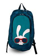 Рюкзак с принтом спортивный Заяц в очках