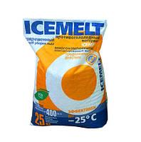 Реагент антигололедный Айсмелт ICEMELT (кальция хлорид), 25кг