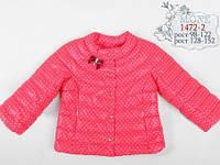 Весенняя курточка для девочки Mone 1472-6 цвет красный