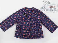 Весенняя курточка для девочки Mone 1472-7 цвет синий
