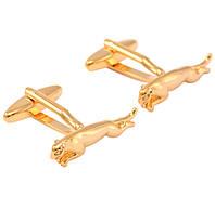 Запонки Bow Tie House металические золотистые - пантера 08984