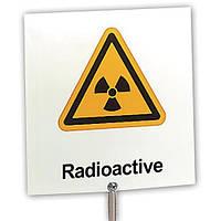Табличка с предупреждением: «Радиоактивность»