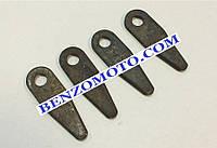 Нож режуший комплект 4шт (форма капли)  редукторной роторной косилки Т1100 мотоблока