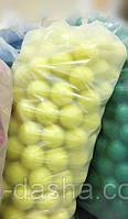 Шарики для сухого бассейна Ø8см 200шт, цвет желтый, производство Украина