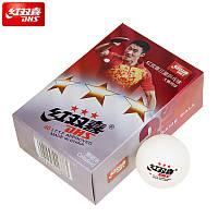 Мячи для настольного тенниса Dhs  40mm 3*** 6 штук  ,белые