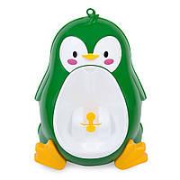 "Писсуар (горшок) ""Милый пингвинчик"" зелёный"
