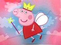 Наклейка на бутылочку Свинка Пеппа фея