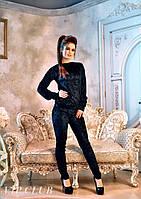 Женский костюм из бархата