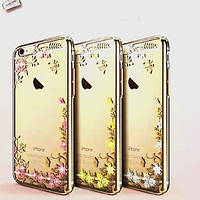 Case iPhone 6G Border flowers