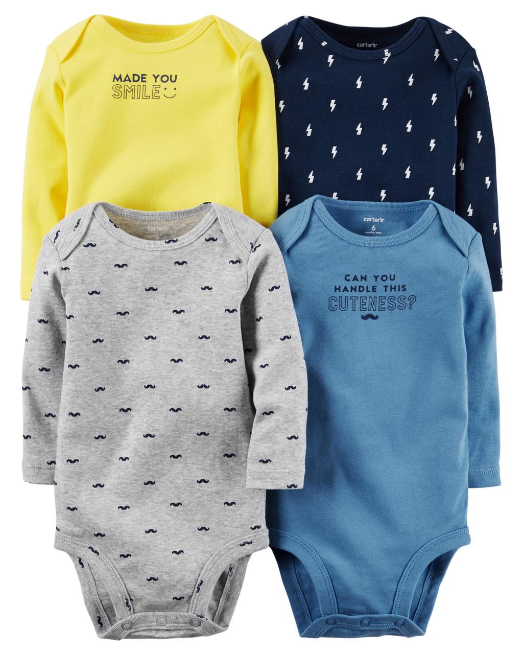 Боди с длинным рукавом для новорожденных мальчиков 3 мес. Carter's