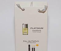 Мини парфюмерия Chanel Egoist Platinum в подарочной упаковке 3х15 ml DIZ
