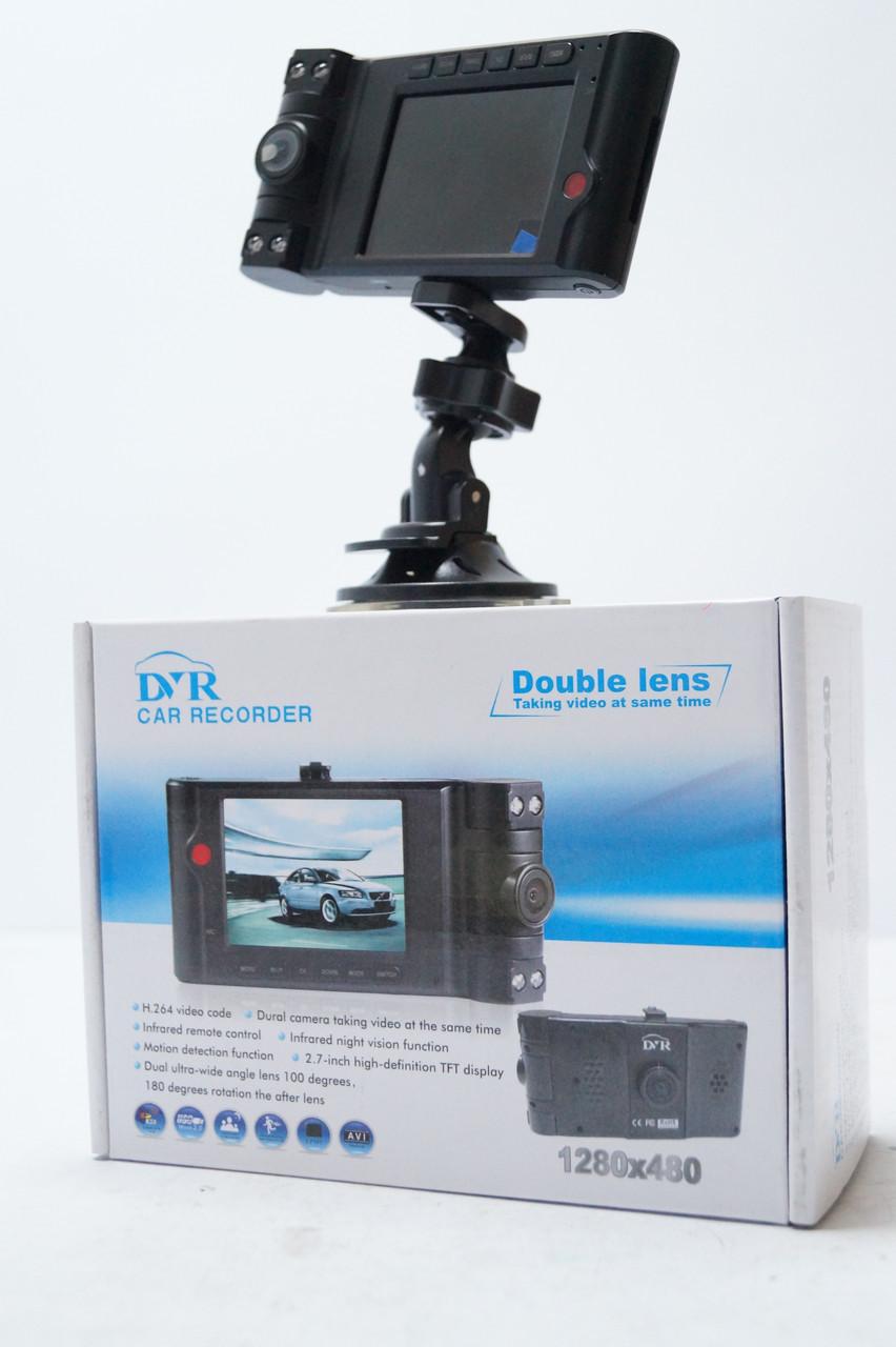 Автомобільний Відеореєстратор Vehicle Double Lens 2 HD камери