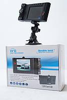 Автомобільний Відеореєстратор Vehicle Double Lens 2 HD камери, фото 1
