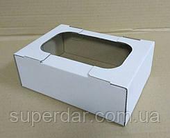 Міні-лоток кондитерський для печива, зефіру та тістечок, 160х110х55 мм, білий